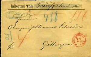 413877) Franco-cachet Rouge. K1 Magdeburg F. 1871 Sur Lettre Avec Valeur Vers, Garnier 50,--afficher Le Titre D'origine Prix ModéRé