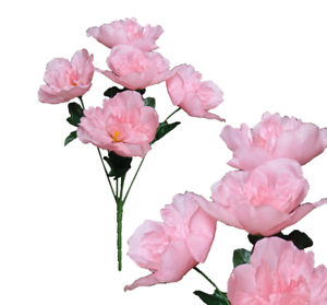 "Lot of 120 White Carnations 14/"" Bush Wedding Home Decor Craft Silk Flower Leaf"