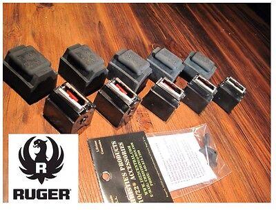 Ruger Factory Magazine Holds 10 Rnds 22LR;  BX-1;  Fits 10//22;  3 Pack;  90451