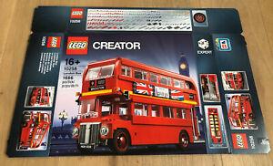 LEGO 10258 Creator Expert Londoner Bus Leerkarton/Box/Ovp NEU