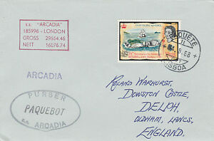 Fiji 4510 - Used in LISBON, PORTUGAL 1969 PAQUEBOT cover to UK