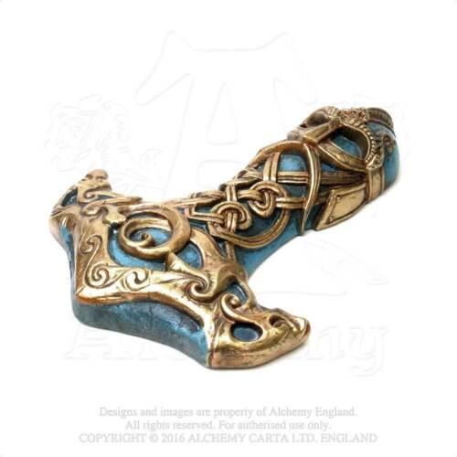 Alchemy Gothic Vault Thors Hammer Mollnir God of Thunder Norse Wall Sculpture