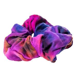 Buntes Haarband Goa Tie Dye Batik Hippie Haargummiband von Kunst und Magie