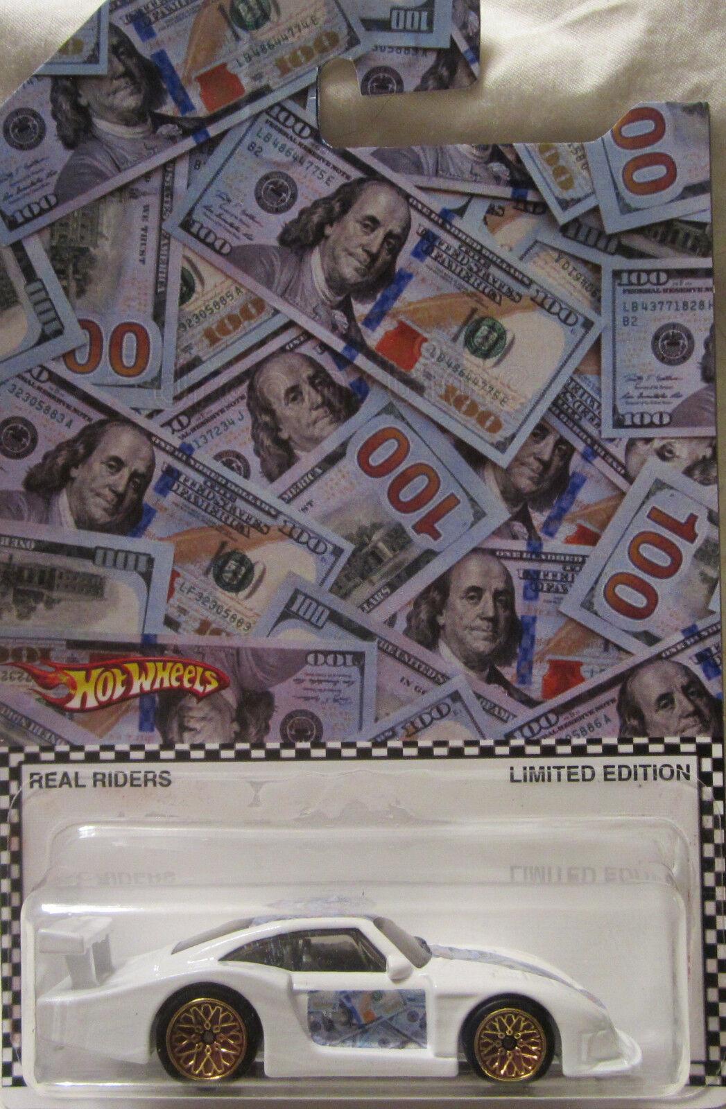Hot Wheels CUSTOM PORSCHE 935 Money Car Real Riders Limited 1 5 Made
