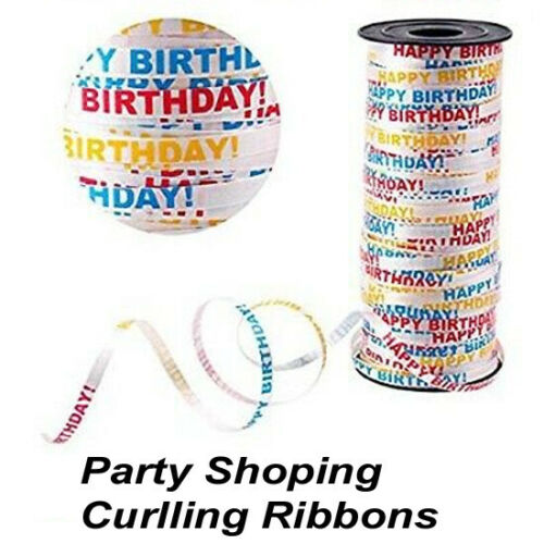 50M FANCY Curling Ribbon BALLOONS Gift Wrap STRING RIBOONS ALL COLOUR decoration