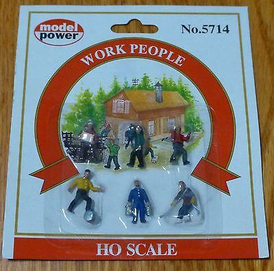 Model Power #5714 Railroad Personnel pkg(6) -- Work People