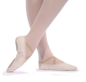 New Girls / Jungen Leinen geteilte Sohle Ballett Schuhe alle Größen pink/schwarz