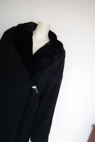 Fur Coat Collar Long Cashmere Vert Jacques 14 And Black Detachable Wool nxYO8Wwq6A