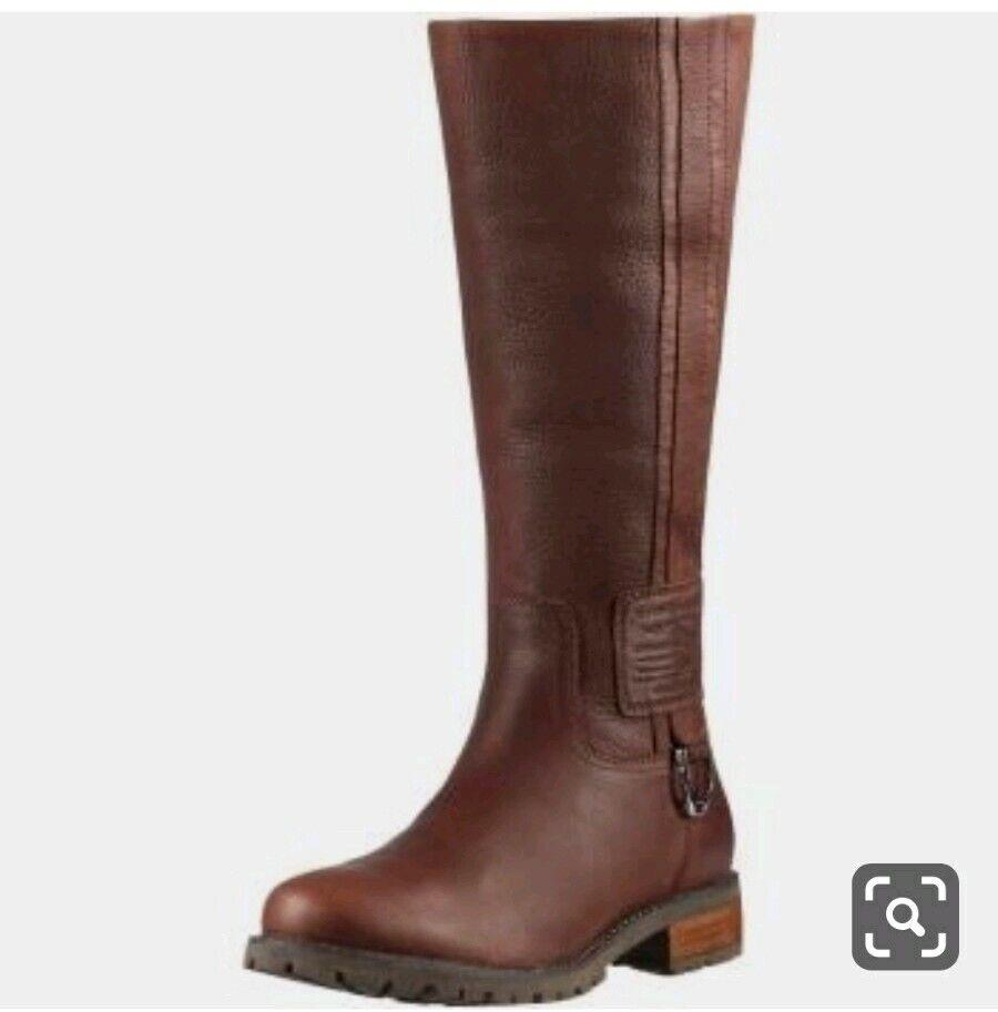 NIB.Ariat Womannen's Kempton H2O WaterBesteendig laarzen Grootte 7 (37.5) Pecan bruin