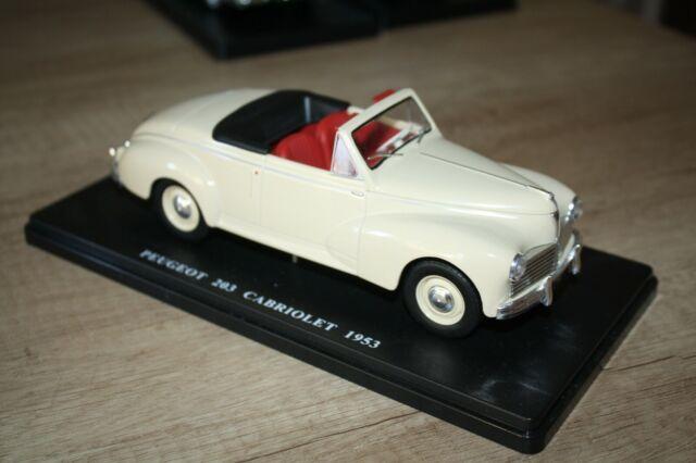 1/24 Auto vintage N.28 Peugeot 203 Cabriolet 1953 Hachette ETAT NEUF