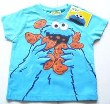 T-Shirt Gr.116 Sesamstrasse NEU m.E 100% Baumwolle Krümelmonster blau