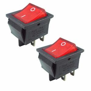 2x-4-polig-Wippenschalter-Wippe-250V-15A-Wippschalter-EIN-AUS-Schalter-Q8P6