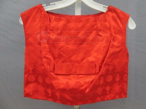 Vintage 60s Red Silk Brocade Dress And Top (REDUCE