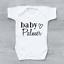 Gravidanza-Baby-annuncio-Baby-Gilet-crescere-Body-NOME-PERSONALIZZATO miniatura 5