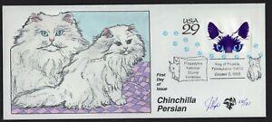 Chinchilla-Perisan-Philadelphia-Exhibition-FDC-Signed-Hand-Painted-Pugh-d-121