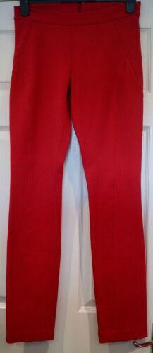 rouge Style à Pantalon coton coupe Uk8 mélangé Karan Donna ajustée slim Jodhpur en jambe Zx70gq8