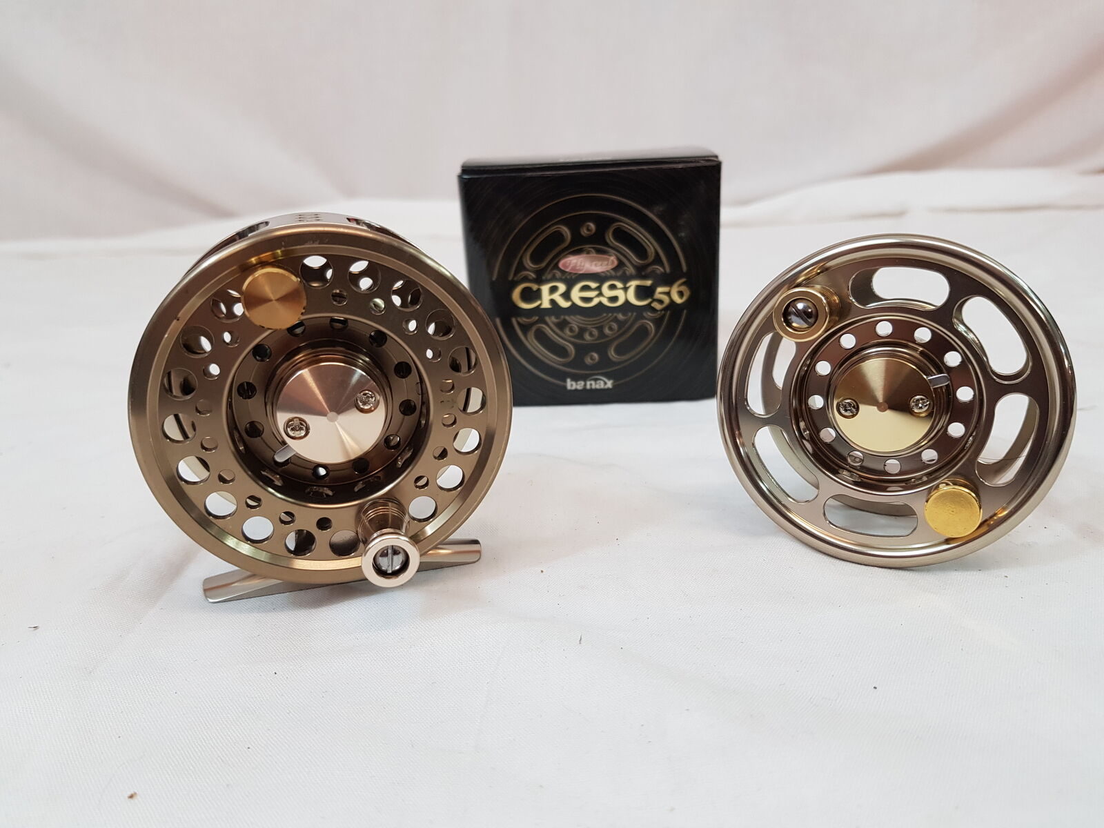 BANAX REEL CREST LARGE ARBOR FLY REEL BANAX AND SPARE SPOOL eb8dda