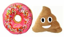 Emoji Poop+3D Pink Icing Sugar Donut Soft Cushion Pillow Toy Seat Pad Home Decor