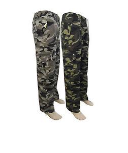 Hommes Militaire Cargo Combat Camouflage Pantalon De Travail Combat 100/% Coton