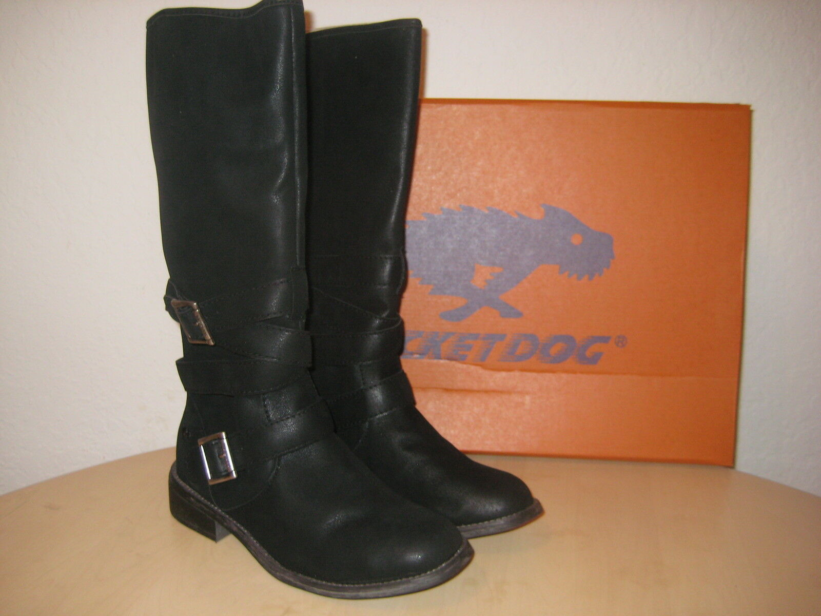 Rocket Dog Size 6 M GRETTA Black Knee High Boots New Womens Shoes