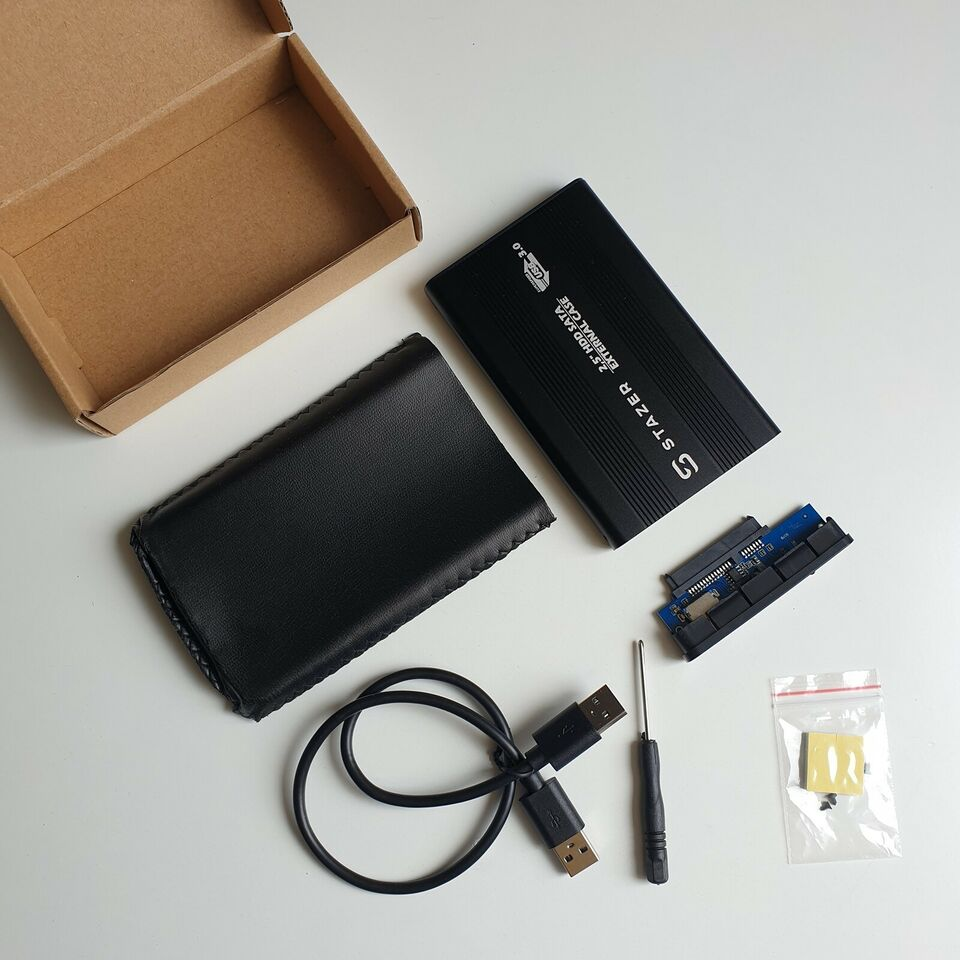 """Adapter, 2.5"""" SATA USB 3.0 Eksternt Kabinet til HDD / SSD,"""