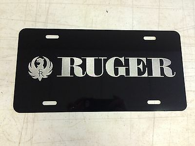 US NAVY Seabee Logo Car Tag Diamond Etched on Aluminum License Plate