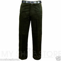 MENS CORDUROY CORD TROUSERS COTTON FORMAL CASUAL SMART BIG PLUS BELT POCKET PANT