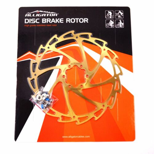 ALLIGATOR Light Weight Wind Cutter Disc Bremsscheiben 140//160//180//203mm Gold