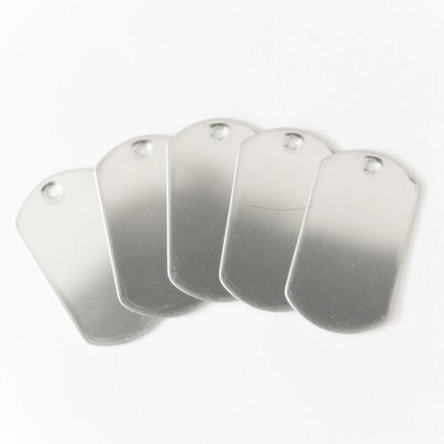 Balle Chaîne Colliers Silencieux Kit Réparation 100pcs chaque acier inoxydable Dog Tags
