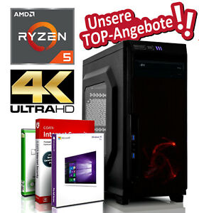 Gamer Komplett PC AMD Ryzen 5 2400G 16GB 256GB + 500GB SSD Radeon Vega11 System