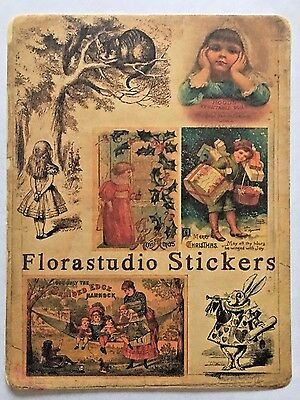 Vintage Kawaii Stickers for Card Making and Scrapbooking