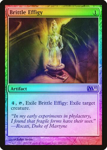 M11 NM-M Artifact Rare MAGIC MTG CARD ABUGames Brittle Effigy FOIL Magic 2011