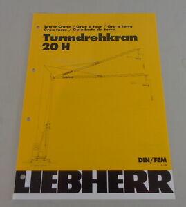 Data Sheet / Technical Description Liebherr Tower Crane 20 H From 03/2001