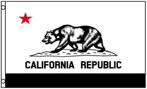 Image Is Loading 3x5 Black And White California State Flag Grizzly