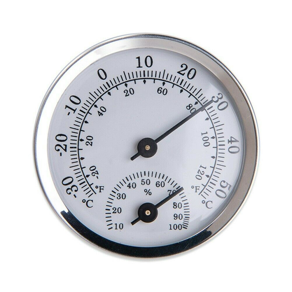 Household Wall-Mounted Temperature Humidity Meter Thermometer Hygrometer 58*12mm