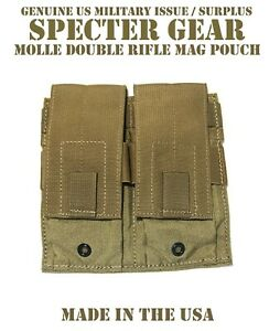 SPECTER-GEAR-272-COYOTE-USMC-US-MILITARY-MOLLE-DOUBLE-RIFLE-MAG-POUCH-SHINGLE