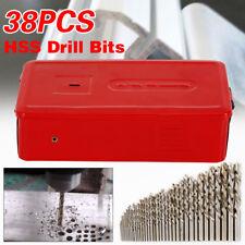 25Pcs Twist HSS High Speed Cobalt Steel Kit Metric Drill Bit Tools Set 1mm-13mm