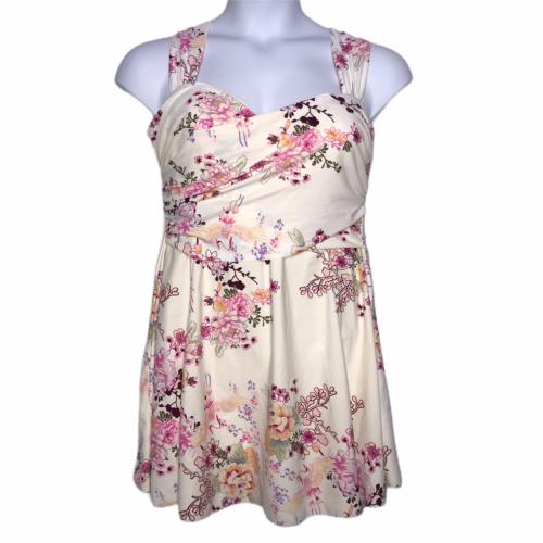 Cocopear Cream Floral Swim Dress Skort 3XL