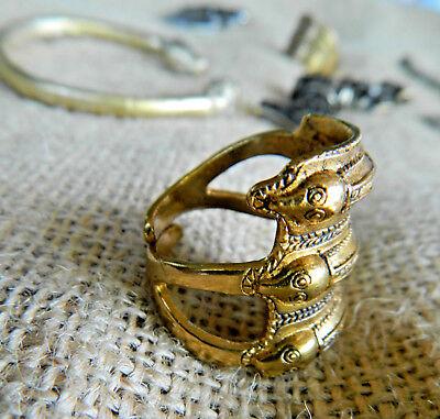 Germanischer Schlangen Ring der Eisenzeit Bronze tragbar, nach Originalfund   eBay
