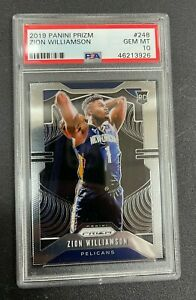 2019-2020 Panini Prizm Zion Williamson #248 PSA 10 - Gem Mint - Rookie Card