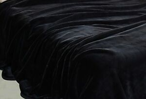 4kg-Heavyweight-Thick-Korean-Style-Faux-Mink-Blanket-Oversized-King-Black