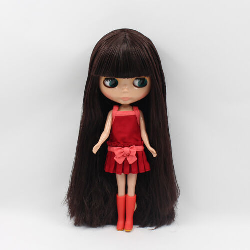 """Takara 12/"""" Neo Blythe Dark Brown Hair  Nude Doll from Factory TBY71"""