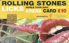 RARE / CARTE TELEPHONIQUE - THE ROLLING STONES / MICK JAGGER / TELEPHONE CARD