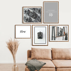 Gallery-Wall-Home-Prints-A4-Photography-Vintage-camera-1-5-PICTURES-NO-FRAME