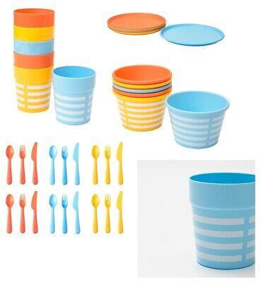 Ikea Set De Couverts Assiettes Tasse Bol Couleurs Mélangées Picnic Enfants Bbq Fête Plastique Neuf Ebay