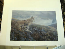 Above Timberline Wolf Pair Wolves Terry Isaac Signed Wildlife Art Print