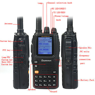 Wouxun KG-UV9D Plus Walkie Talkie UHF/VHF Cross-Band Repeater FM Two Way Radio