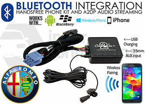 ALFA-ROMEO-SPIDER-BLUETOOTH-STREAMING-ADAPTATEUR-Mains-libres-Appels-ctaarbt001