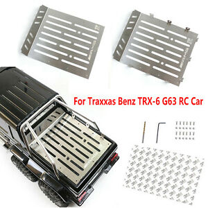 Quality Stainless Steel Trunk Plate /& Net//Hook for TRAXXAS TRX6 G63 6X6 RC Car