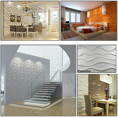 Natural Bamboo 3D Wall panel Decorative Wall Ceiling Tiles Wallpaper Camille 6m2